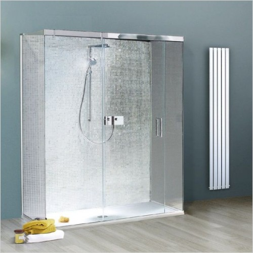 Matki Shower Enclosures - Sliding Door With Fixed Panels Three Sided 1200mm