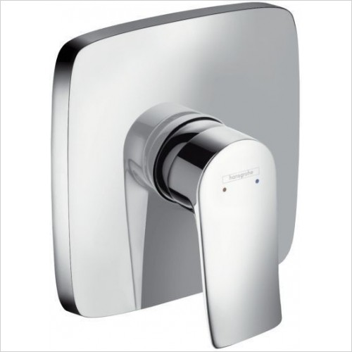 Hansgrohe Showers - Metris Shower Mixer Concealed Square Plate