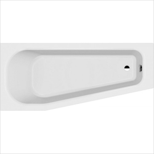 Laufen Baths - Solutions Wellness Space Saving Bathtub 1700 x 750mm LH
