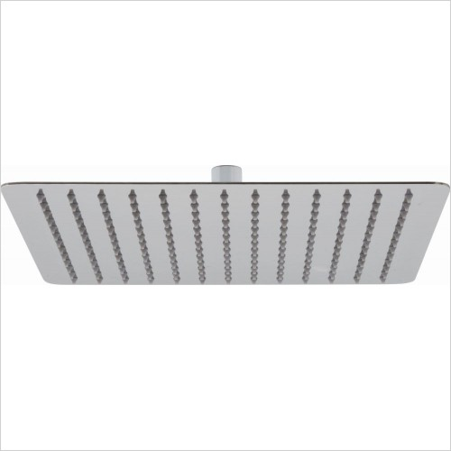 VADO Showers - Aquablade Slimline Square Shower Head, 300mm (12'')