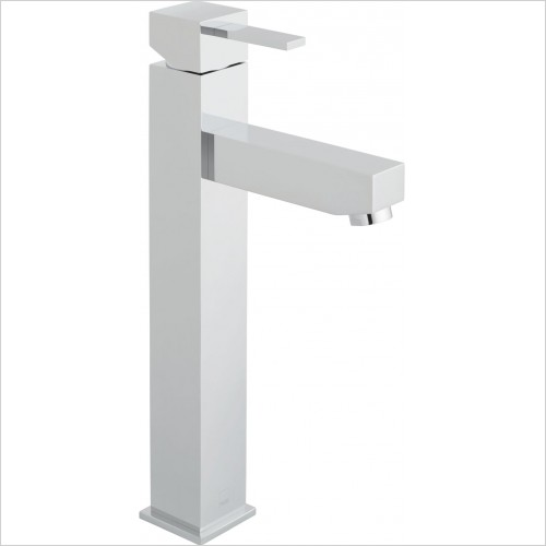 VADO Taps - Té Extended Mono Basin Mixer Single Lever Smooth Bodied