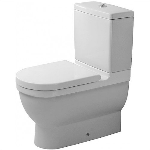 Duravit - Toilets - Starck 3 Toilet Close-Coupled 655mm Washdown Vario Outlet