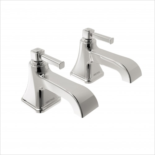 Heritage Taps - Somersby Deck Mounted Bath Pillar Taps