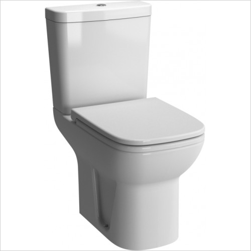 Vitra Toilets - S20 Close-Coupled Open Back With Cut Out WC Pan