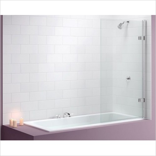 Merlyn Shower Enclosures - Hinged Square Bath Screen 850 x 1500mm