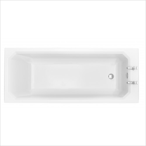 Heritage Bathtubs - Granley Deco Single Ended 1700 x 700 Acrylic Fitted Bath