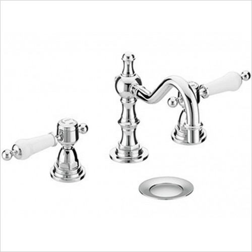 Heritage Taps - Glastonbury 3TH Swivel Spout Mixer