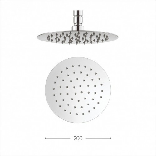 Crosswater Showers - Central 200mm Diameter Showerhead