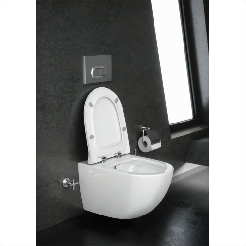 Vitra Toilets - Options Sento Rimless Wall Hung WC Pan