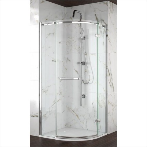 Merlyn Shower Enclosures - 8 Series Frameless 1 Door Quadrant 900mm Incl MStone Tray