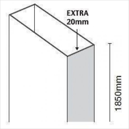 Merlyn Optional Extras - 10 Series Extension Profile For Quadrant 20mm