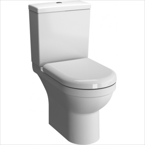 Vitra Toilets - S50 Rimless Close-Coupled Open Back WC Pan