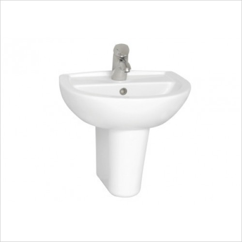 Vitra Basins - Layton Cloakroom Basin 50cm 2TH