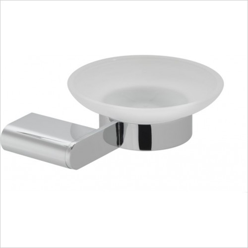 VADO Accessories - Photon Frosted Glass Soap Dish & Holder Wall Mounted