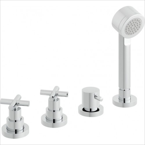 VADO Showers - Elements Water 4 Hole Bath Shower Mixer Deck Mounted
