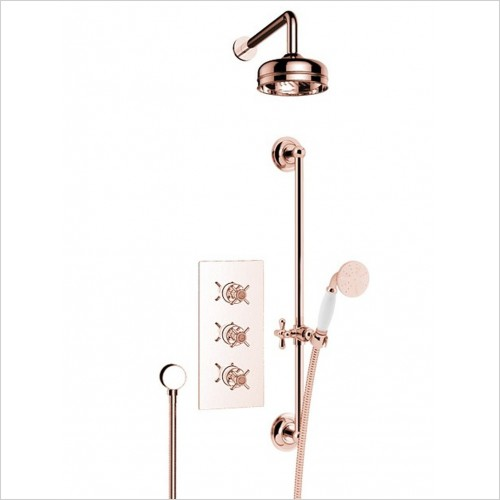 Heritage Showers - Dawlish Recessed Shower with Premium Fixed Head