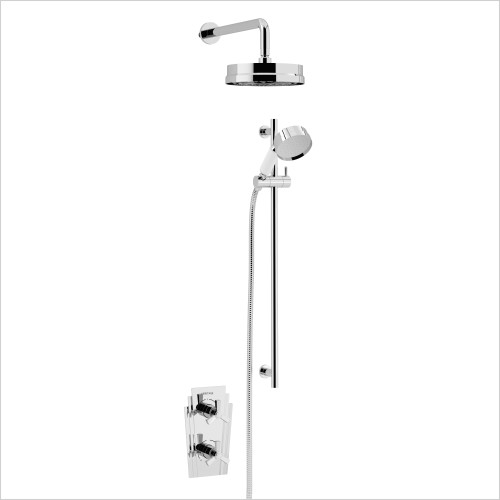 Heritage Showers - Gracechurch Recessed Shower With Deluxe Fixed Head Kit
