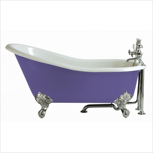 Heritage Bathtubs - Kent 1550 x 765mm Slipper Cast Iron Bath 2TH