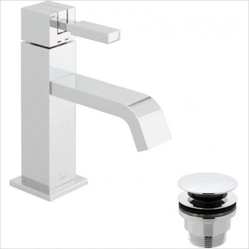 VADO Taps - Geo Slimline Mono Basin Mixer Smooth Bodied Single Lever