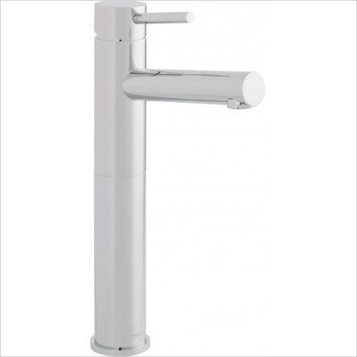 VADO Taps - Zoo Extended Mono Basin Mixer Single Lever Smooth Bodied
