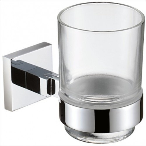 Bristan Accessories - Square Tumbler & Holder
