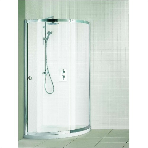 Matki Shower Enclosures - Colonade Curved Corner & Tray 900mm Left Hand