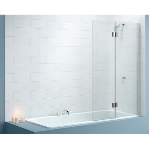 Merlyn Shower Enclosures - Vivid Bath Screen 900 x 1500mm Right Hand Door Square Hinge