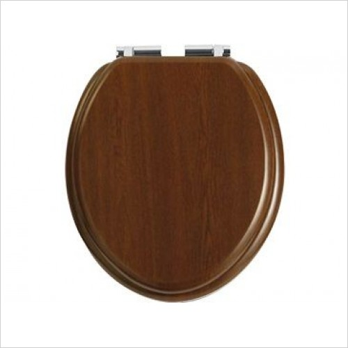 Heritage Toilet Seats - Toilet Seat Chrome Soft Close Hinge