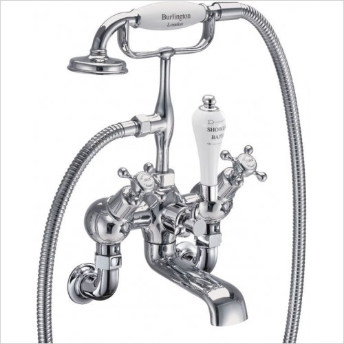 Burlington Showers - Claremont Angled Bath Shower Mixer - Wall Mounted