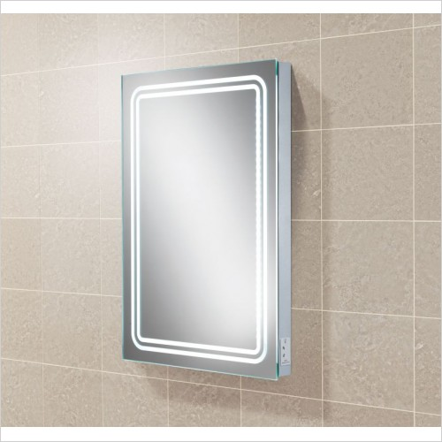 HIB Accessories - Rotary LED Backlit Mirror 70 x 50 x 5.5cm