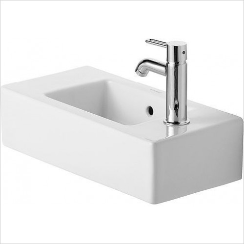 Duravit - Basins - Vero Handrinse Basin 500mm TH R/L Pre-Punched
