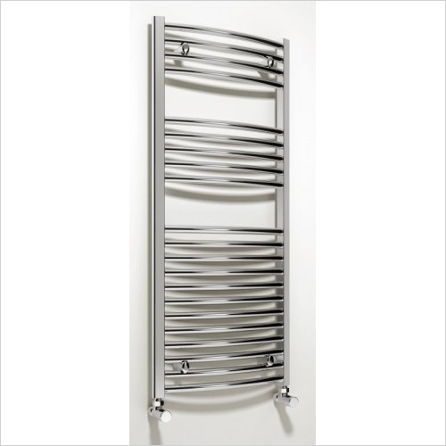 Reina Radiators - Diva Curved Towel Rail 1000 x 500mm - Electric