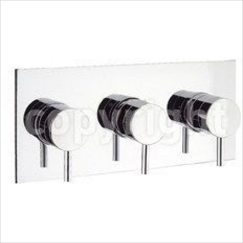 Crosswater Showers - Kai Lever Thermostatic Shower Valve 3 Control