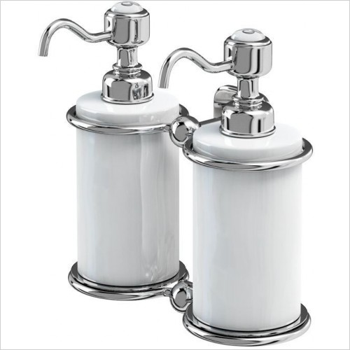 Burlington Accessories - Double Soap Dispenser