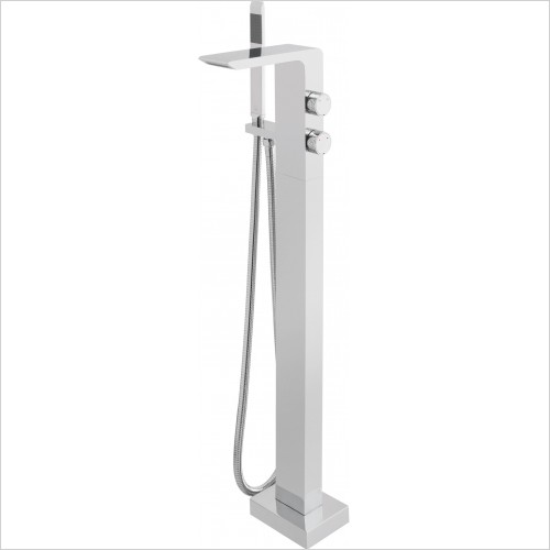 VADO Taps - Omika Floor Standing Bath/Shower Mixer With Shower Kit