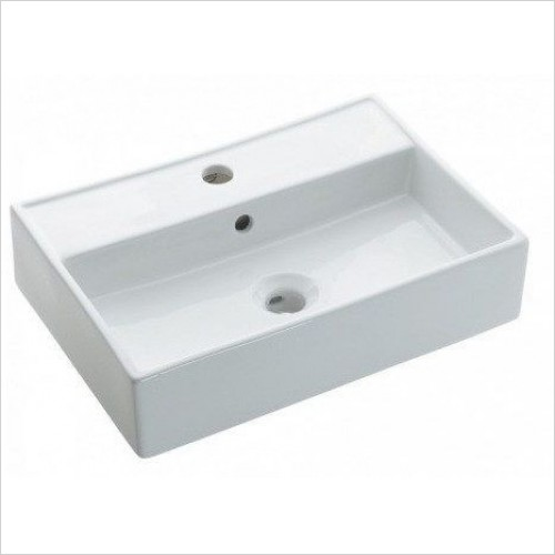 Bauhaus Basins - Turin Wall Mounted Basin With Overflow 500mm