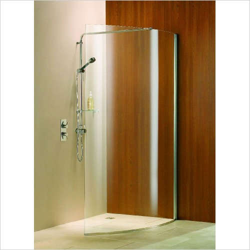 Matki Shower Enclosures - Wet Room Curved Panel 1250mm LH GG
