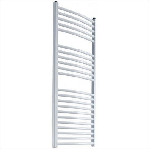 Reina Radiators - Diva Curved Towel Rail 1200 x 400mm - Dual Fuel