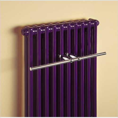 Bisque Radiators - Classic Towel Radiator 2 Column Wall Hung 742 x 398mm