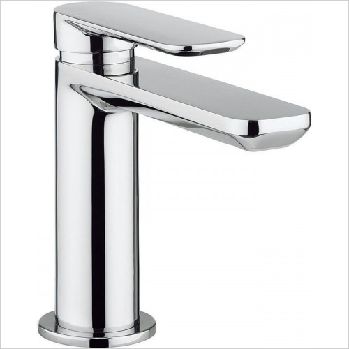 Crosswater Taps - Pier White Basin Mixer With No Pop-Up Waste