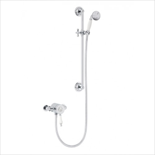 Heritage Showers - Glastonbury Exposed Shower With Premium Flexible Riser Kit