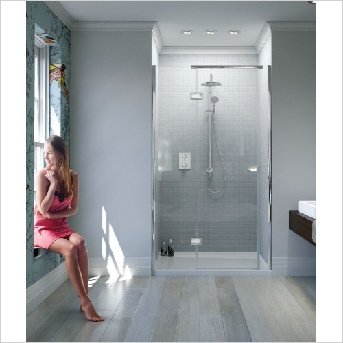 Matki Shower Enclosures - Illusion Recess Door 900mm Left Hand GG