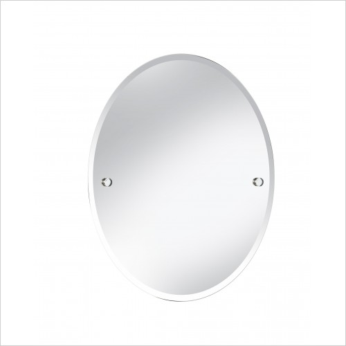 Heritage Accessories - Harlesden Oval 610x500mm Mirror