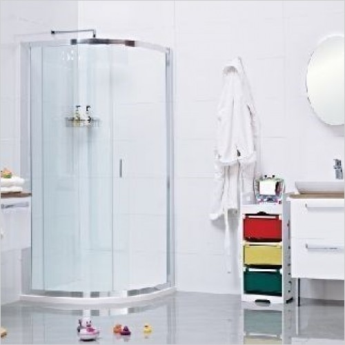 Roman Shower Enclosures - Lumin8 1 Door Offset Quadrant 800 x 900mm