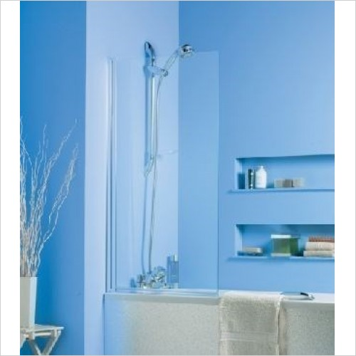 Roman Shower Enclosures - Jupiter Curved Bath Screen Unprinted Glass