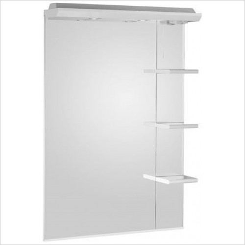Roper Rhodes Accessories - Valencia 700mm Mirror With Shelves & Canopy