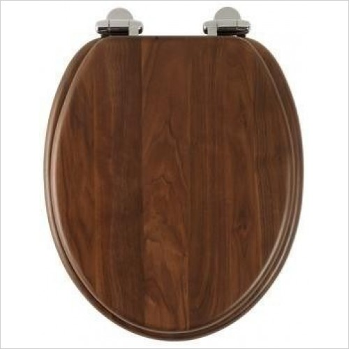Roper Rhodes Toilet Seats - Traditional Soft Close Toilet Seat - Solid Walnut