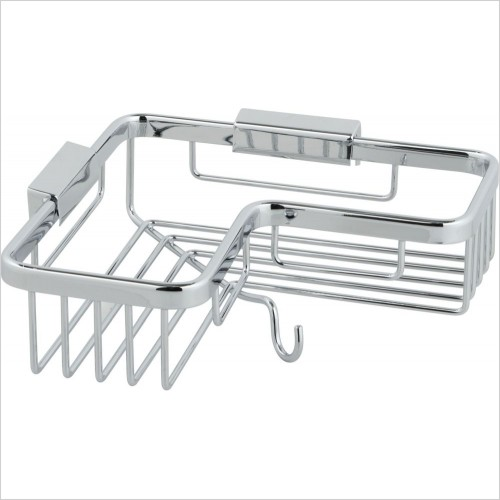 VADO Accessories - Basket Corner With Hook Wall Mounted