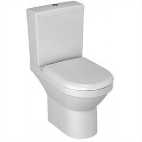 Vitra Toilets - S50 Compact Close-Coupled Open Back WC Pan