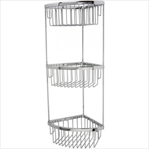 Miller Accessories - Classic 3-Tier Shower Basket